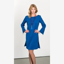 -Elegant dress with slit sleeves-21