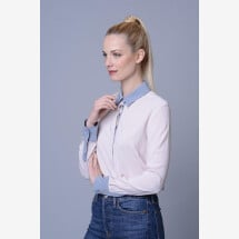 "-Ladies blouse ""Bluebell"" rose pink gray-21"