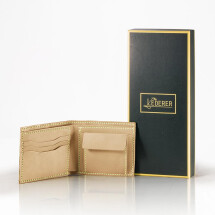 -Coins Short Wallet Leather Stitching Pack-21