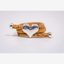 -Ring made of cork with a heart Newly Handmade-21