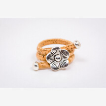 -Ring made of cork with a flower Newly Handmade-21