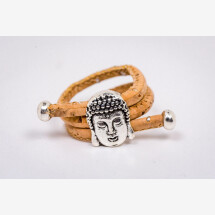 -Ring made of cork with a Buddha Handmade New-21