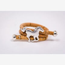 -Ring made of cork with a horse Newly handmade-21