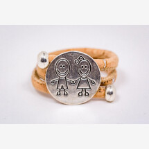 -Ring made of cork with two children / couples-21