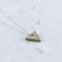 -Walnut TRIANGLE NECKLACE-21
