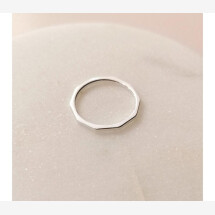 -Puristic ring with sterling silver edges-21