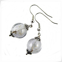 -Real Dandelion Earrings silver-22
