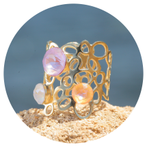 -artjany gold plated ring peach lavender mix-21