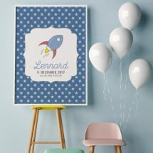 """-Personalized Poster A3 """"Rocket""""-2"""