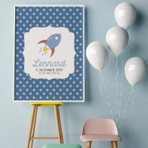 """-Personalized Poster A3 """"Rocket"""" DUPLICATE-2"""