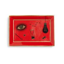 -Jonathan Adler Red Bijoux Rectangle Tray-21