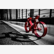 "-Foto-Print hinter Acrylglas ""Red Bike""-20"