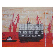 "-Canvas Print ""Ship turning""-20"