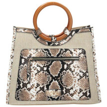 -Linen bag with snake pattern-21