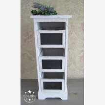 -Wooden cabinet with 5 drawers for writing large 62cm-20