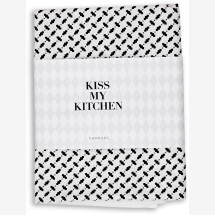 -Tea towel by KISS MY KITCHEN Pali white / black-22