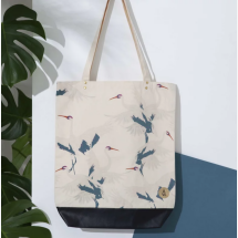 -STORK 100% Cotton Tote Bag Blue White-21