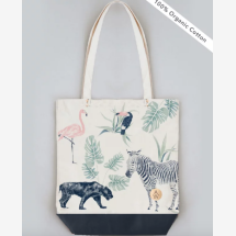 -CHIQ SAFARI 100% Cotton Tote Bag Animals-23