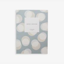 -Kartotek Copenhagen Baburu Steel Blue Open Flat Notebook-21