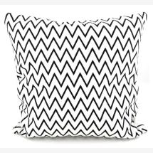 -Cushion Zig Zag 40x40 Scandi Style white / black Orskov Danmark-21