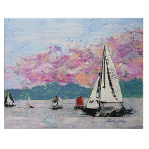 "-Canvas Print ""HAMBURG Glider on the Alster""-20"