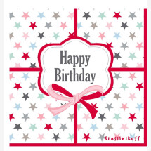 "-""Happy Birthday"" paper napkins Krasilnikoff-2"