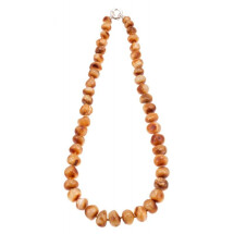 "-Amber necklace ""Silence""-21"