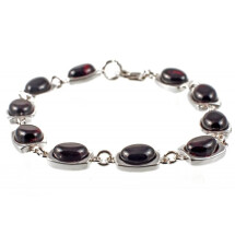 -Silver bracelet with cherry amber-21