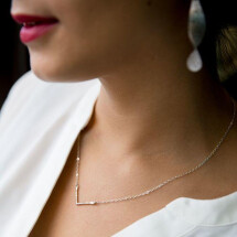 -Small V Necklace-21
