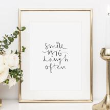-Tales by Jen Art Print: Smile big laugh often-21