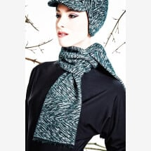 -dark green patterned scarf SOLO_194-21