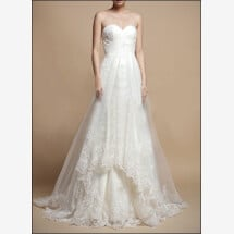 -Romantic wedding dress with lace a-line-22