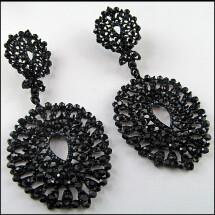-Great festive Gothic earrings in lace look-23
