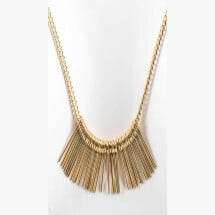 -Long chain gilded with needles pendant-20