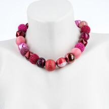 -Short pearl necklace Bollywood Tea-Room made of a fine material mix-20