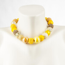 -Short pearl necklace Bollywood sun made of a fine material mix-20
