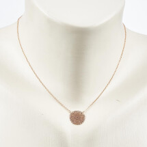 -Short necklace with mandala 2 motif rose gold plated-20