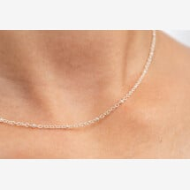 -Short simple chain silver-plated-22