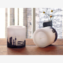 -Modern candle set Stuttgart 2 candles with Stuttgart skyline city candles by 44spaces-21