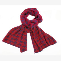 -Elegant knitted scarf in houndstooth pattern DUPLICATE-2