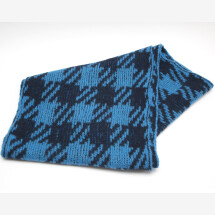 -Noble knit design knit scarf blue dark blue-21