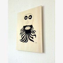 -Ray Moore Beardy silkscreen print on poplar plywood-20
