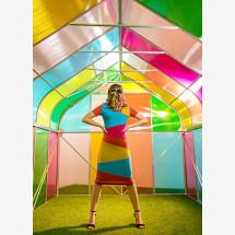 -colorblocking stretch dress Emilia-21