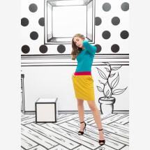 -colorblocking pocket dress Juna-21