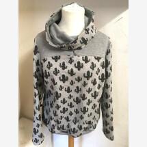 -Sweatshirt with cactus pattern size XL-2