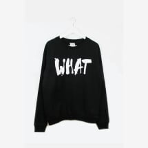 -Sweatshirt WHAT black-21