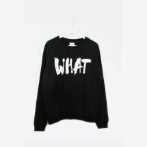 -Sweatshirt WHAT black-21