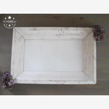 -Shabby Chic wooden tray 60x40 off white-21