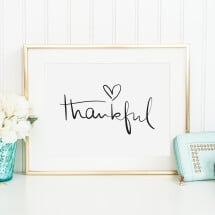 -Tales by Jen Art Print: Thankful-21