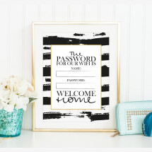 -Tales by Jen Art Print: Wifi Password Welcome Home-21